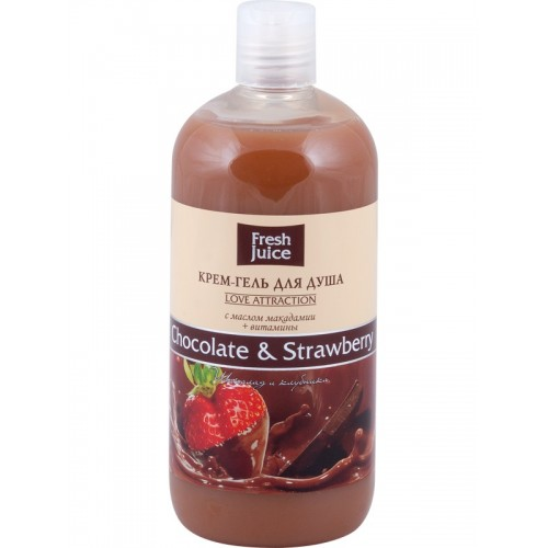 FRESH JUICE Gel de dus cremos cu extracte de cacao si capsuni 500ml