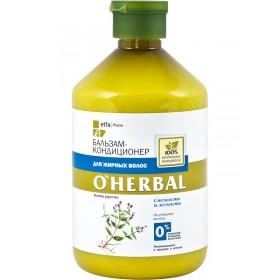 O'Herbal Balsam revigorant si purifiant pentru par gras - Termen valabilitate 12.2017