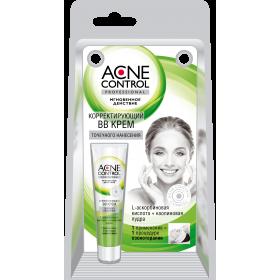 Crema corectoare BB antiacnee aplicare locala cu L-acid ascorbic, caolina si acid salicilic