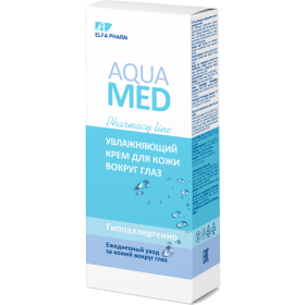 Aqua Med Crema hidratanta contur ochi cu acid hialuronic si apa termala