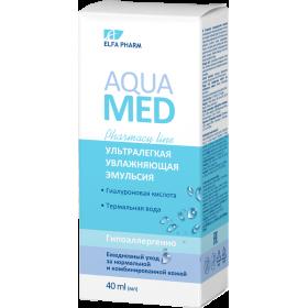 Aqua Med Emulsie hidratanta pentru ten normal si mixt cu acid hialuronic si apa termala