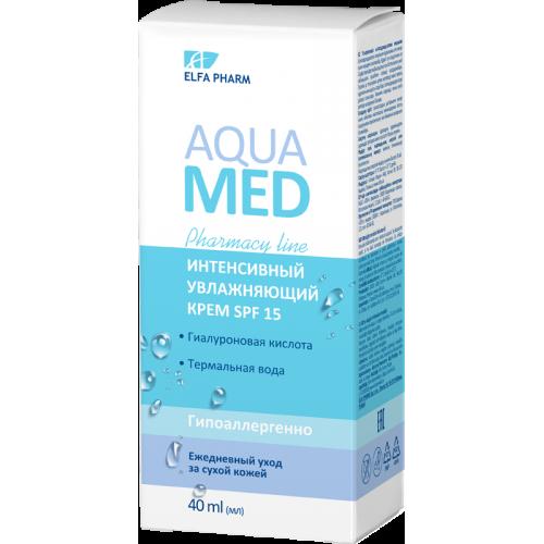 Aqua Med Crema intens hidratanta SPF 15 pentru ten uscat cu acid hialuronic si apa termala