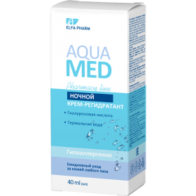 Aqua Med Crema intens rehidratanta de noapte cu acid hialuronic si apa termala
