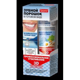 Pasta de dinti efect de albire cu argila albastra de Baikal