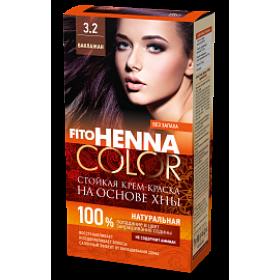Vopsea de par permanenta fara amoniac FITO Henna Color 3.2 BRUN VIOLET