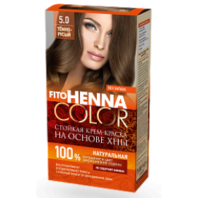Vopsea de par permanenta fara amoniac FITO Henna Color 5.0 BLOND INCHIS