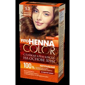Vopsea de par permanenta fara amoniac FITO Henna Color 5.3 CASTANIU AURIU - momentan nu este pe stoc