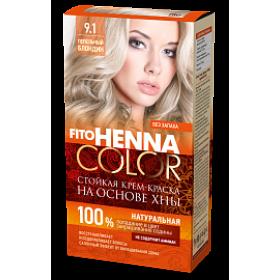 Vopsea de par permanenta fara amoniac FITO Henna Color 9.1 BLOND CENUSIU - momentan nu este pe stoc