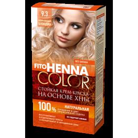 Vopsea de par permanenta fara amoniac FITO Henna Color 9.3 BLOND PERLAT - momentan nu este pe stoc
