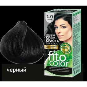 Vopsea de par permanenta fara amoniac si miros Fitocolor 1.0 NEGRU