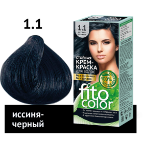 Vopsea de par permanenta fara amoniac si miros Fitocolor 1.1 NEGRU ALBASTRUI