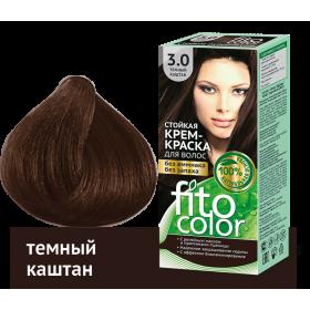 Vopsea de par permanenta fara amoniac si miros Fitocolor 3.0 CASTANIU INCHIS