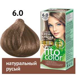 Vopsea de par permanenta fara amoniac  si miros Fitocolor 6.0 BLOND NATURAL