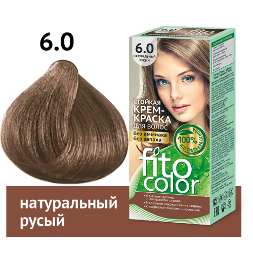 Vopsea de par permanenta fara amoniac  si miros Fitocolor 6.0 BLOND NATURAL
