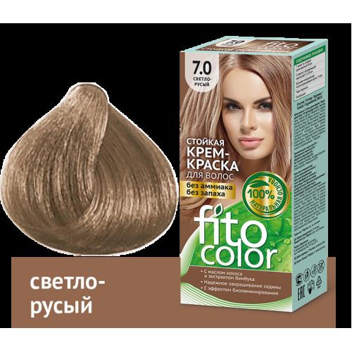 Vopsea de par permanenta fara amoniac  si miros Fitocolor 7.0 BLOND DESCHIS