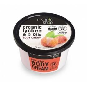 Crema corporala cu extract de litchi si 5 uleiuri Pink Lychee