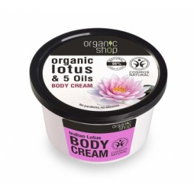 Crema corporala cu extract de lotus si 5 uleiuri Indian Lotos