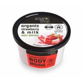 Mousse corporal cu extracte de capsuni si lapte Strawberry Yoghurt