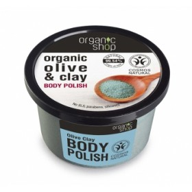 Exfoliant corporal cu sare, argila si ulei de masline Olive Clay
