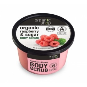 Exfoliant corporal cu zahar si extract de zmeura Raspberry Cream