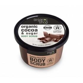Exfoliant corporal cu zahar, unt de cacao si unt de shea Belgian Chocolate