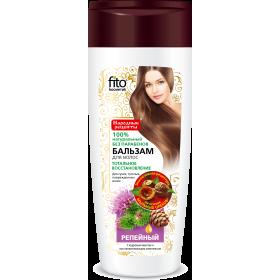 Balsam regenerant RECUPERARE TOTALA pentru par uscat si deteriorat pe baza de nuci de sapun, brusture si ulei de cedru