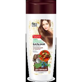 Balsam FORTIFIERE SI ANTIMATREATA pentru toate tipurile de par pe baza de nuci de sapun, gudron de mesteacan si ienupar