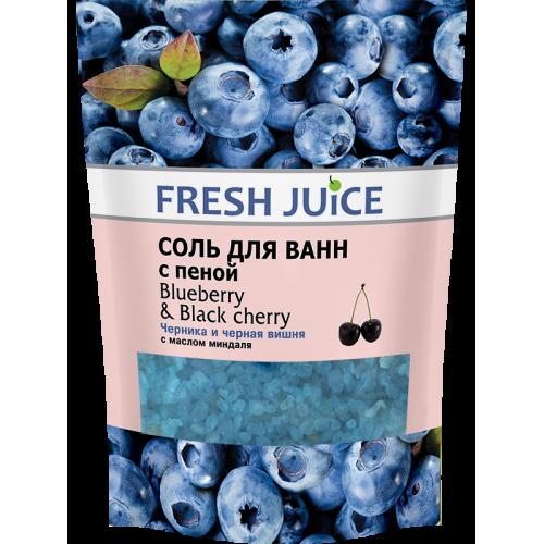 Sare de baie spumanta Blueberry & Black Cherry