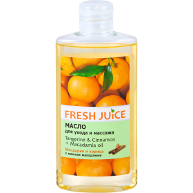 FRESH JUICE Ulei corporal cu uleiuri de macadamia, mandarin si scortisoara