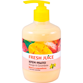 FRESH JUICE Sapun lichid cremos cu ulei de camelia, extracte de mango si carambola