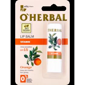 Balsam vitaminizant pentru buze cu ulei de portocale  SPF15