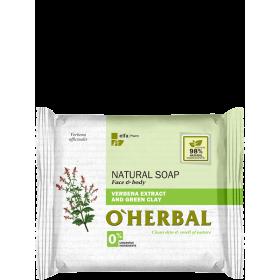 Sapun natural cu extract de verbina si argila verde