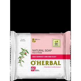 Sapun natural cu extract de goji si argila rosie