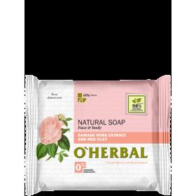 Sapun natural cu extract de trandafir si argila rosie - termen valabilitate 10.2020