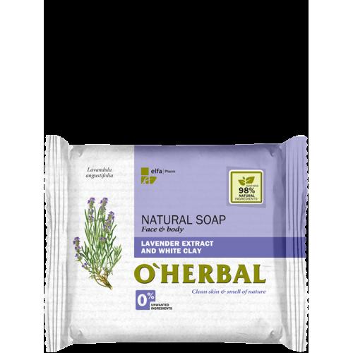Sapun natural cu extract de lavanda si argila alba